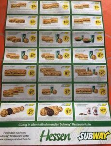 Subway Preise 2021